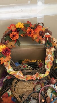 orange, red, and green floral wreath Pittsburg, 94565