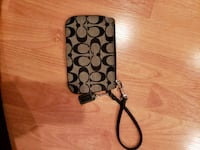 black and gray Coach wristlet Langley, V2Y 2Z3