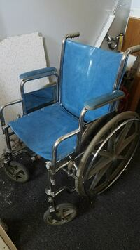 blue wheelchair