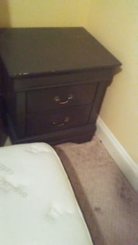 brown wooden 2-drawer nightstand Langley Township, V4W 4A4