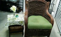 Well made patio outdoor wicker chair w table  San Antonio, 78245