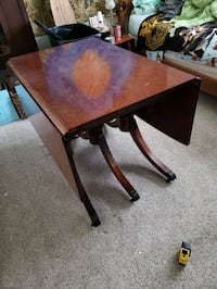 Real wood dinner table