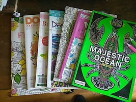 Seven Adult Coloring Books