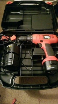 orange and black cordless power drill Reston, 20190