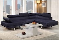 Black 2 Piece Sectional Sofa with Chaise (NEW) LASVEGAS
