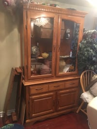 brown wooden framed glass display cabinet Brampton, L6R 1K5