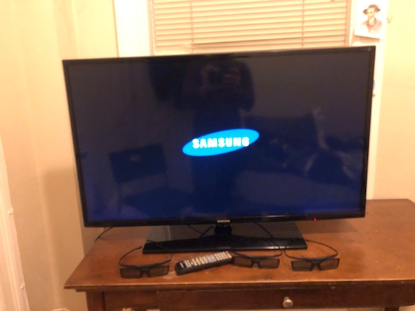 Flat screen television with remote