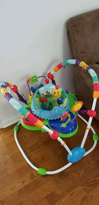baby's green and blue jumperoo Mississauga, L5L 2Y8