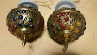 Antique brass and colored lamps Baden, N3A 2M4