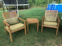 three brown wooden framed padded armchairs Memphis, 38128