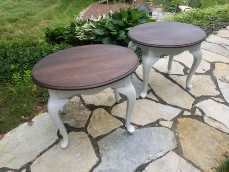 Rustic refinished side tables. 98240f22-292c-4c30-a456-a913a88af233