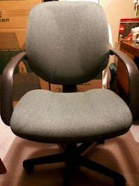 gray/green and black rolling office chair