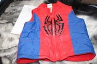 red and blue Spider-Man zip-up jacket
