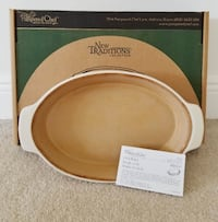 Pampered Chef Stoneware Large Oval Baker Casserole Cape Coral