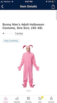 Adult Halloween costume Christmas costume a Christmas story bunny suit Simpsonville, 29681