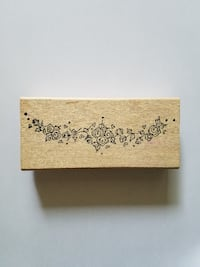 Roses and hearts center piece rubber stamp 2331 mi