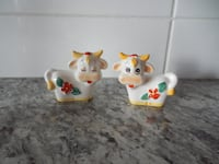 Giftcraft (JAPAN stamped) Cow Salt and Pepper Shakers  Morinville