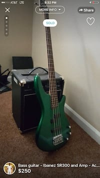 Ibanez bass guitar Bowie, 20715