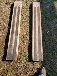 Ramps for truck trailer lawnmowers or motorcycles