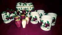 three white-and-green ceramic canisters San Antonio, 78242