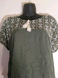 St John Bay Green hippie embroidery stitched size pxl shirt blouse top Hyattsville, 20784