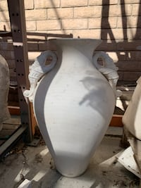 White Clay Vase and Sculptures