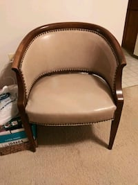 Butter colored Leather Arm Chair  Columbia, 21046