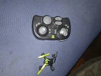 black and yellow quadcopter