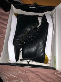 Diesel Pair of black leather high-top sneakers Washington, 20019