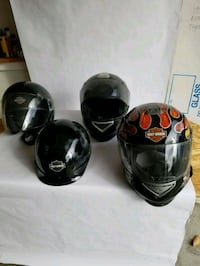 4 motor cycle helmets  York, 17408