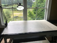 Drafting table with light Holbrook