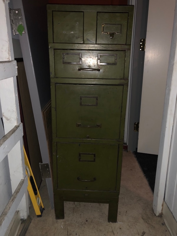 on sale acc60 ff3a2 Vintage File Cabinet