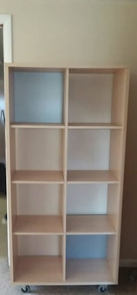 8 cube organizing shelf with wheels 25 mi