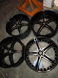 "22""  refeburished staggered wheels 43 km"