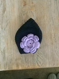 black and purple floral knit cap Greeley, 80631