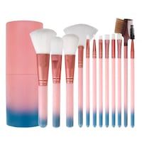 Baby pink and blue ombre 12pcs makeup brushes Brampton, L6Y 3B8