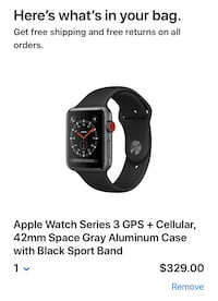 Apple Watch Series 3 with GPS+ Cellular (NEW Never used in box!) Charleston, 29401