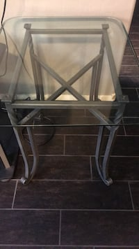 Set of 2 double glass steel iron end tables 80 for both obo  Las Vegas, 89144
