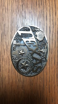 Solid brass belt buckle. First Edition (one of the first 100 to be produced). Stafford, 77477