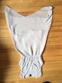 white scoop-neck long-sleeved dress Moncton