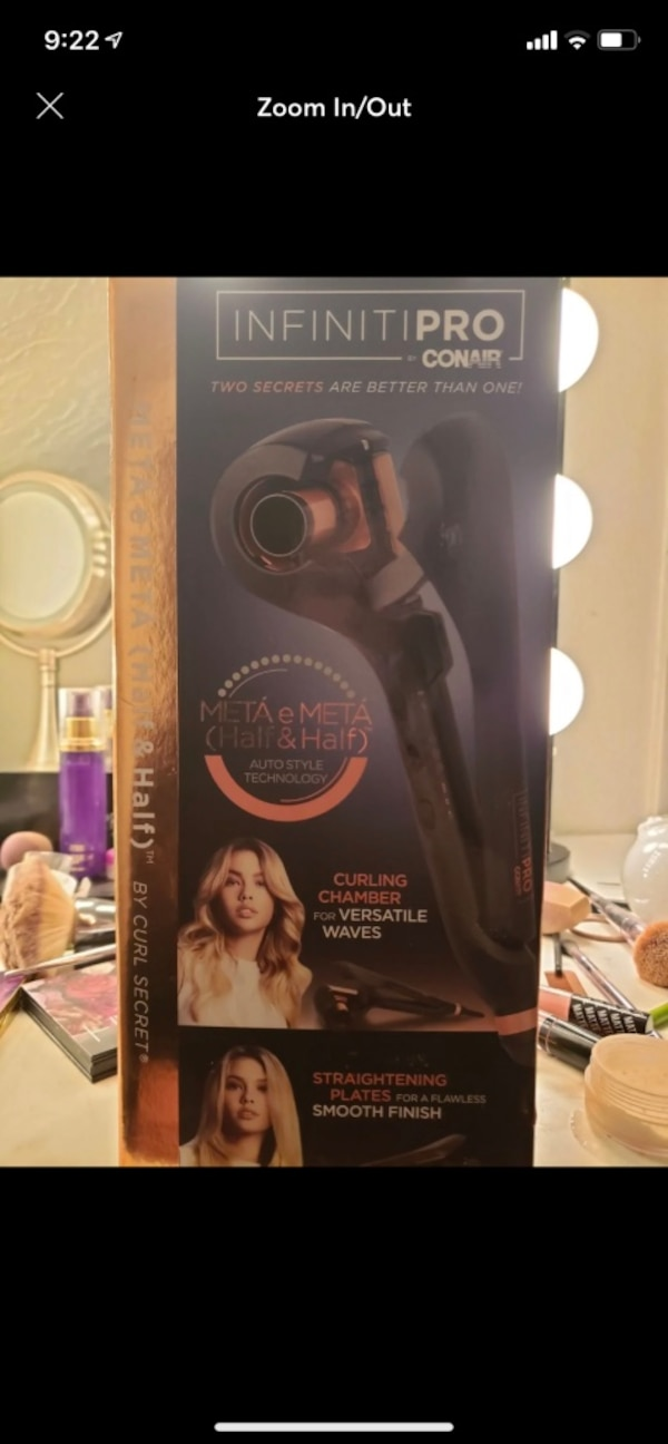 black and gray Remington hair curler in box
