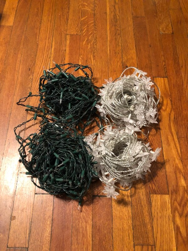4 25ft Christmas lights excellent condition