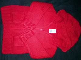 Red sweater sz 18-24 mos