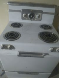 Vintage Stove fully functioning very cool design with thick flat coils