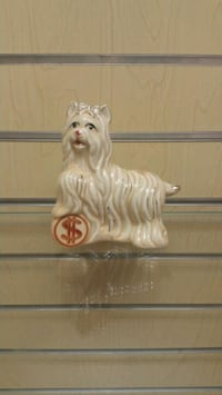 Ceramic Lucky Dog with Coin figurine / statue  (ne