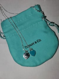 Tiffany and co blue enamel heart necklace  TORONTO