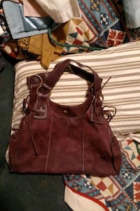 Ana leather suede bag