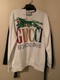 White and green sweater by Gucci Mississauga