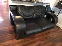 black leather 3-seat sofa Orlando, 32818