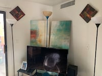 Brown Glass Table and 2 Paintings Las Vegas, 89115